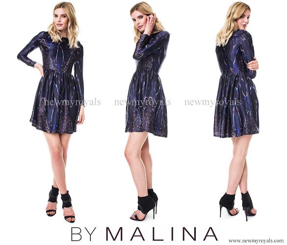 Princess Sofia wore a dark blue By Malina Meryl dress