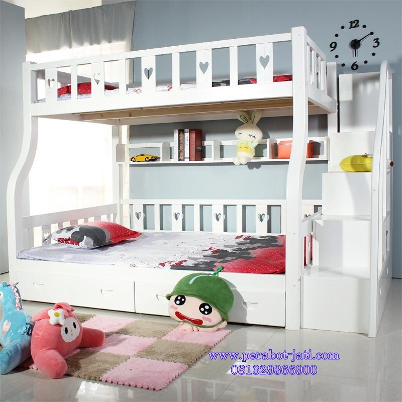 model tempat tidur susun dari kayu 1