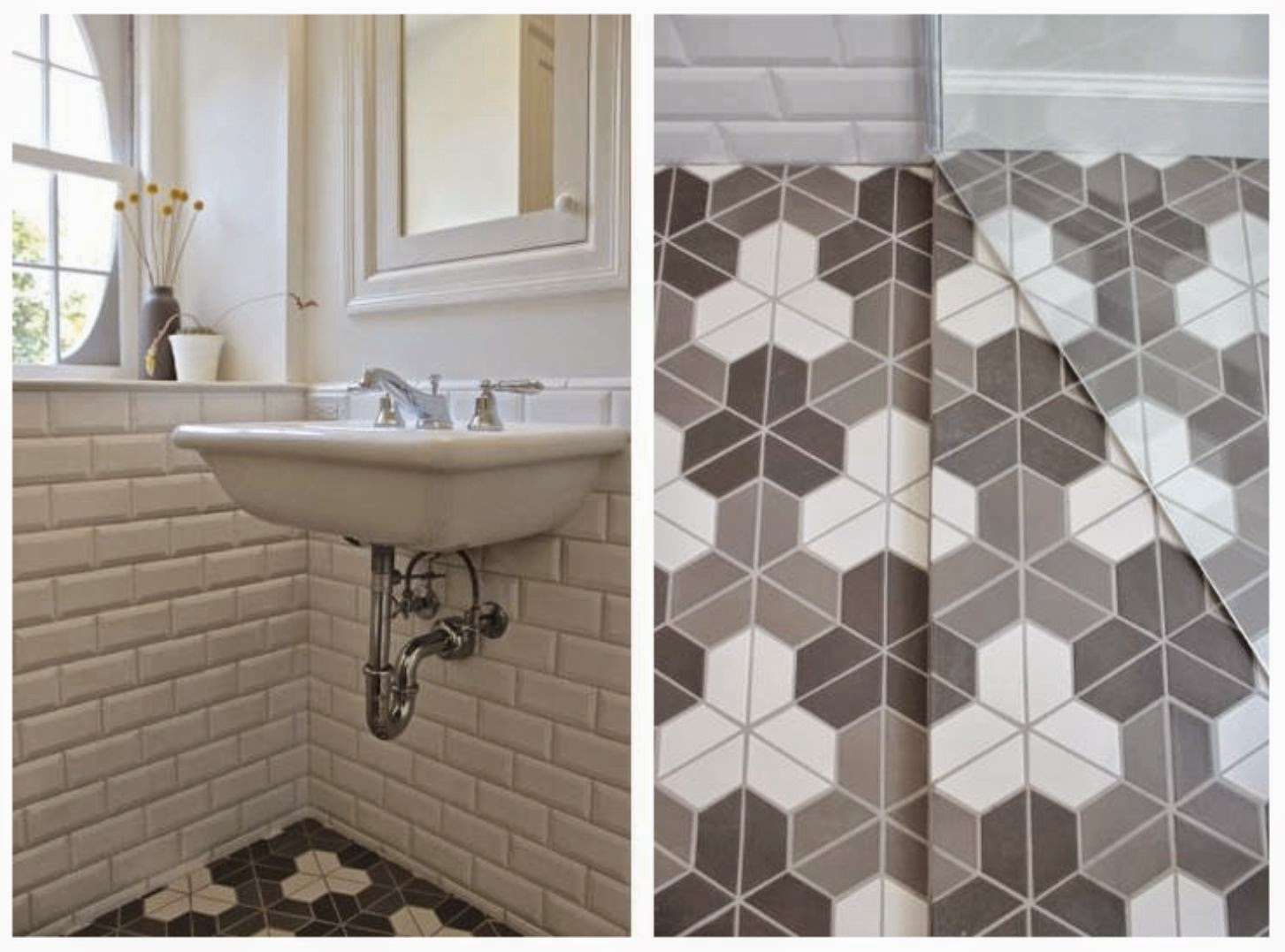 Inspired by this floor i saw on houzz i made it a focal - Renovating a bathroom what to do first ...