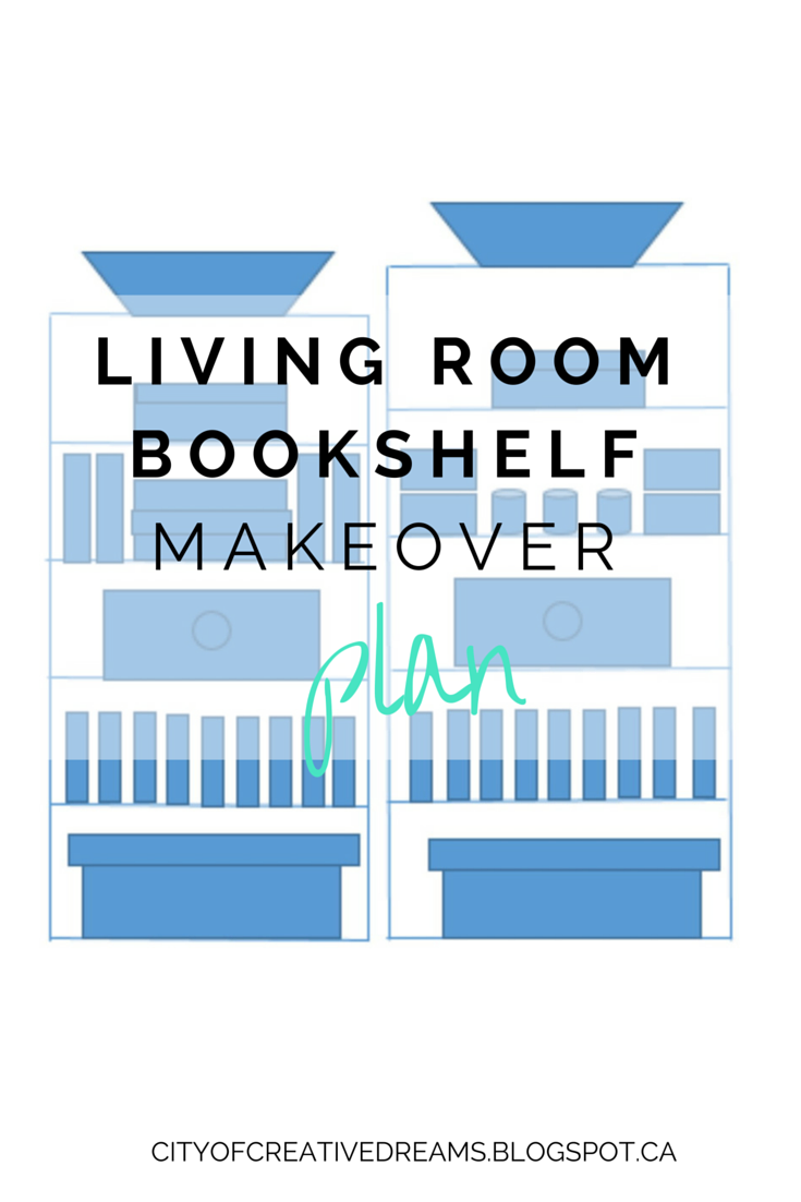 Spring Cleaning - Living Room Bookshelf Plan | City of Creative Dreams