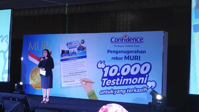 rekor MURI 10000 testimoni popok dewasa confidence