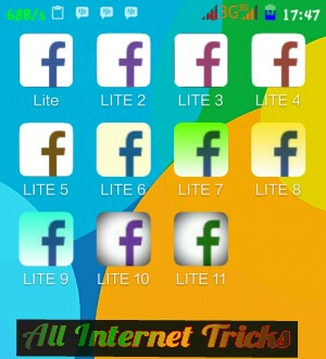 ALL INTERNET TRICK'S: 1 Android Phone Me 10 facebook lite