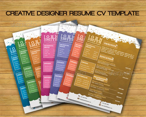 20 awesome resume cv templates