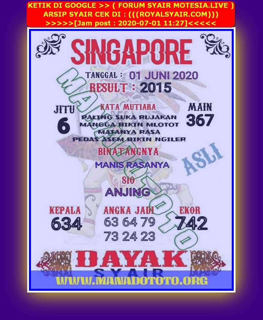 Kode syair Singapore Rabu 1 Juli 2020 41