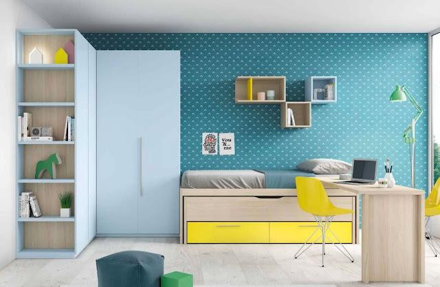 dormitorios juveniles con armario de rincon