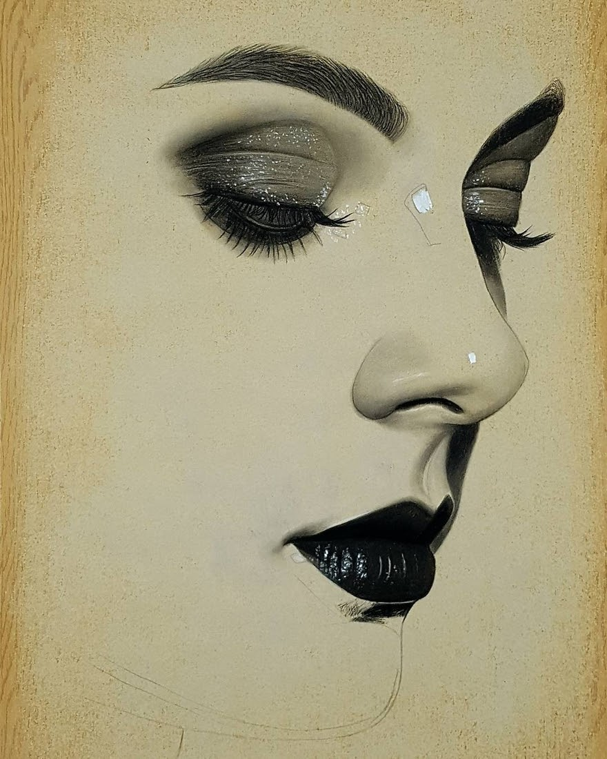 08-Husam-Waleed-Minimalist-Realistic-and-Stylized-Charcoal-Portraits-www-designstack-co
