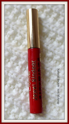 Review, swatch and FOTD of Lakme Jewel (Liquid) Sindoor in Red Shade