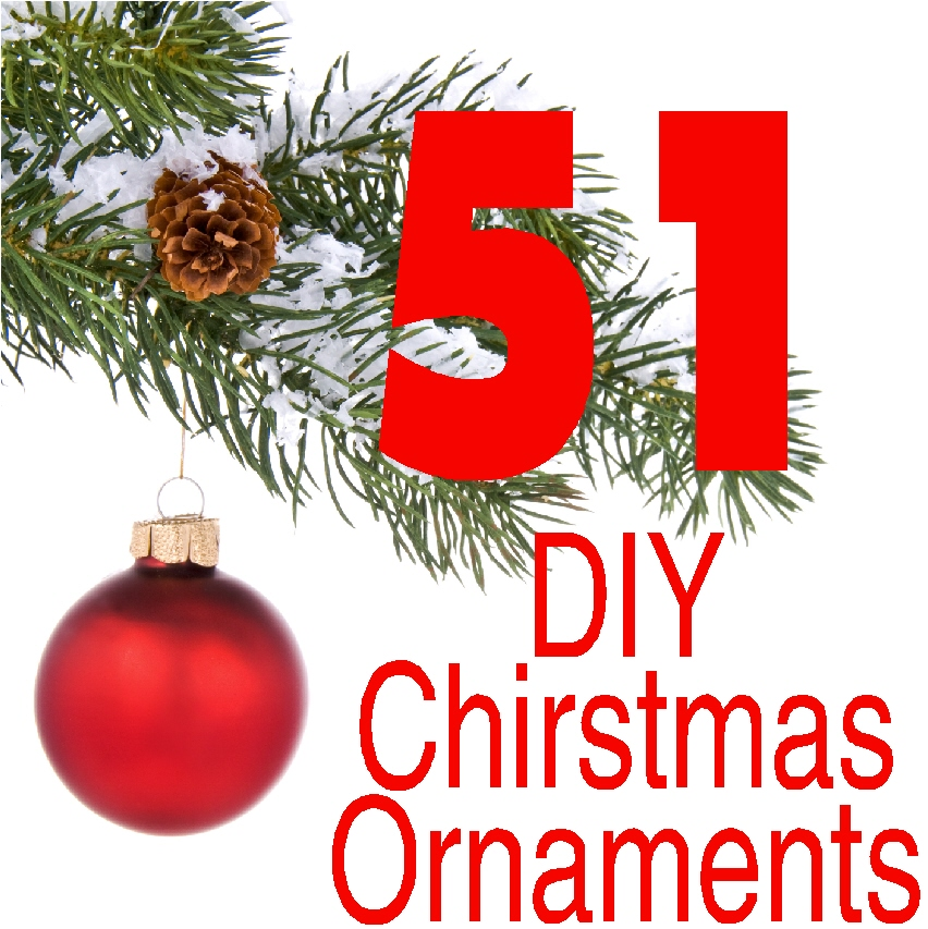 Thetreasuredbookshelf december 2016 check out these 51 diy christmas ornaments to make for your christmas tree you solutioingenieria Choice Image