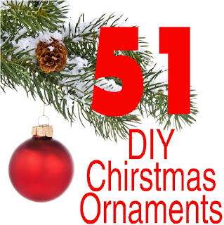 Check out these 51 DIY Christmas Ornaments to make for your Christmas tree.  You'll be enjoying the afternoon creating and remembering the moments for Christmas' to come.