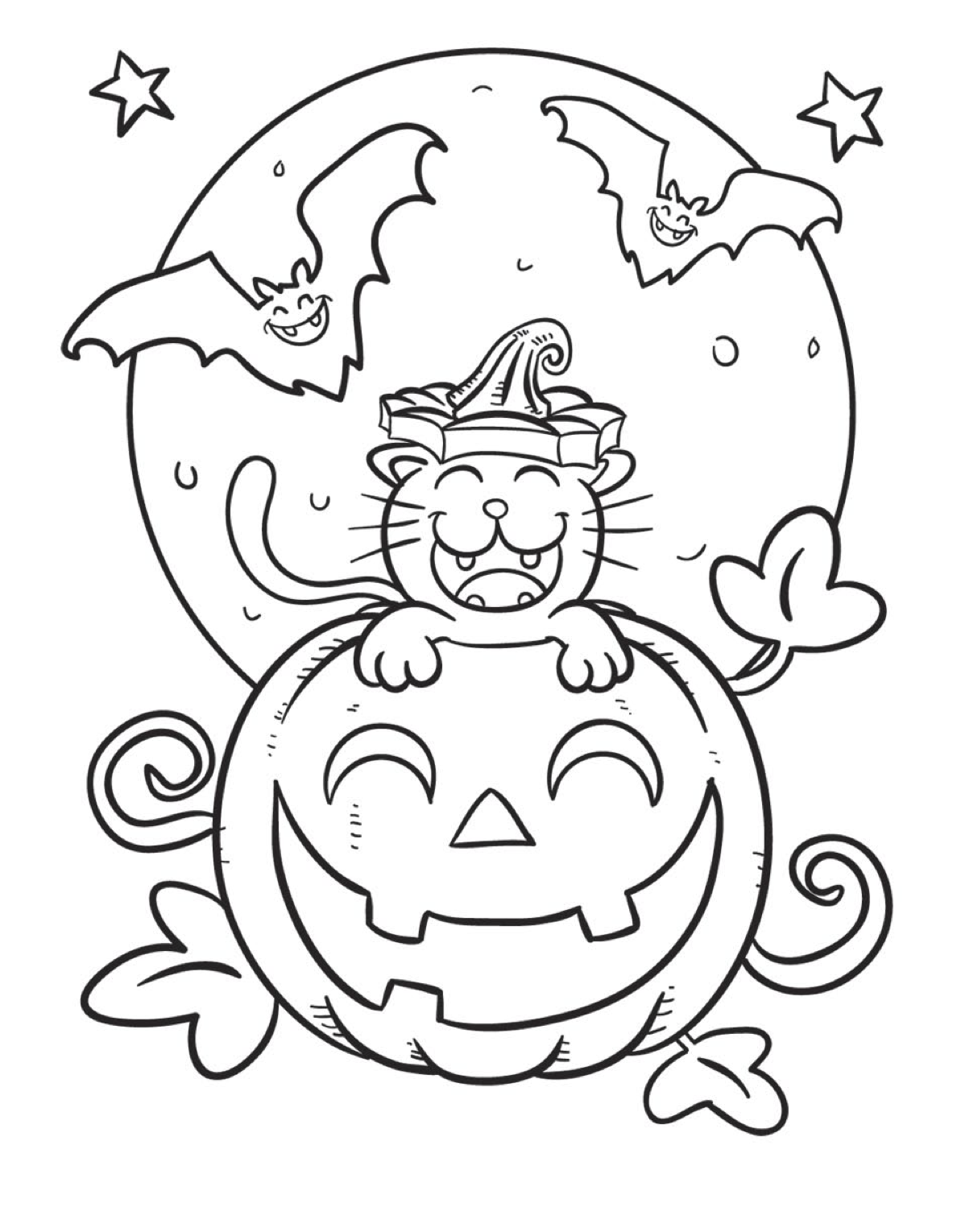 preschool coloring halloween pages - photo#29