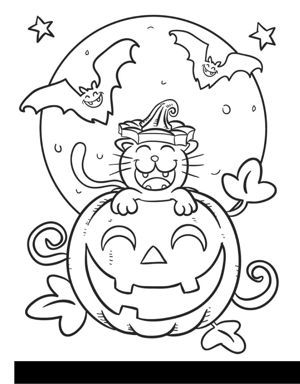 Cantinho Do Primeiro Ciclo Desenhos De Halloween Para Pintar
