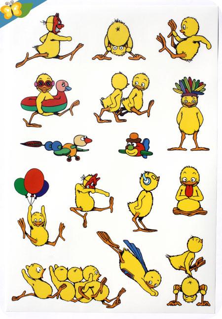 stickers Les Poussins par Claude Ponti - l'école des loisirs