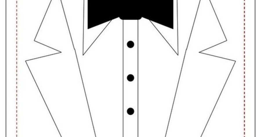 Tuxedo Card Template Oh My Fiesta Wedding