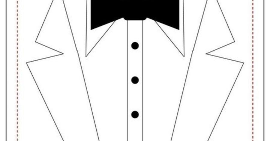 Tuxedo Card Template. | Oh My Fiesta Wedding!