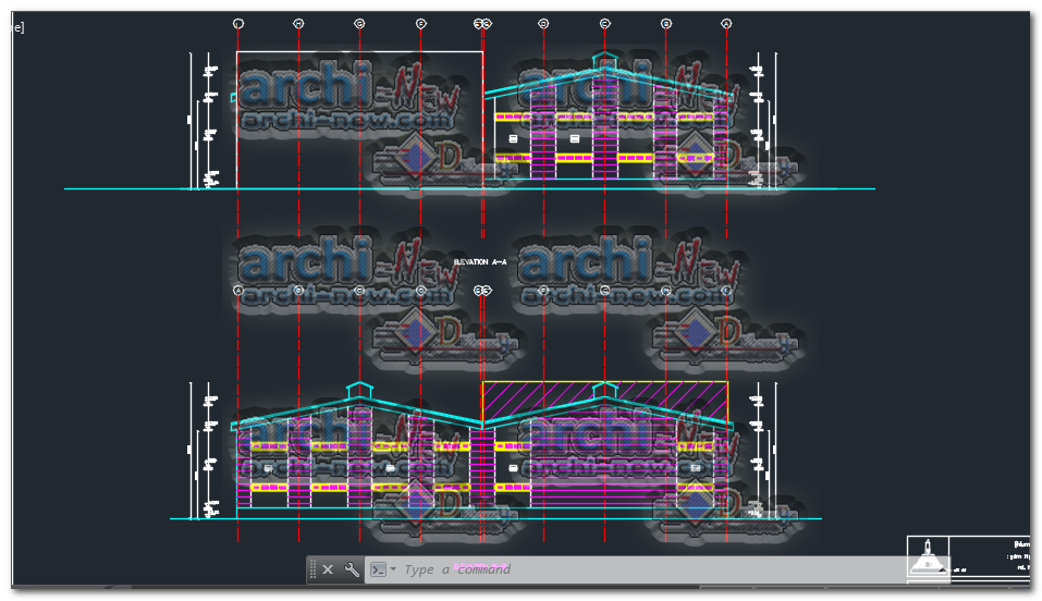 Factory Building Dwg Cad Archi New Free Dwg File Blocks