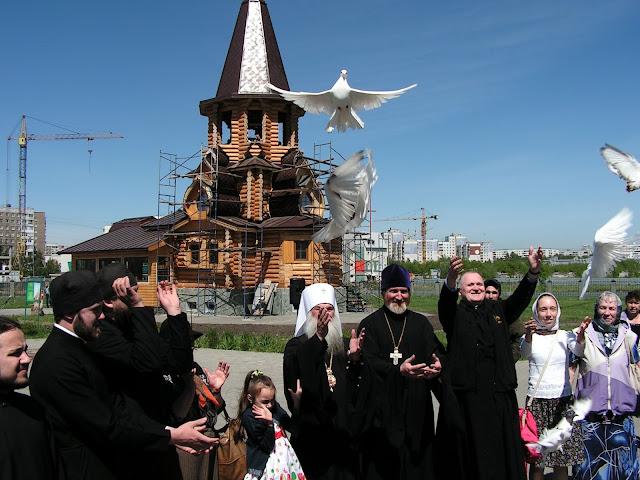 Аллея колоколов в Барнауле