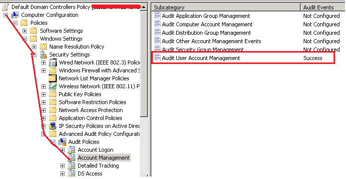Steps to Enable User Account unlock Event ID 4767