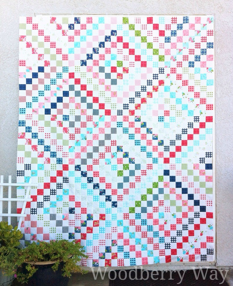Woodberry Way Gooseberry Scrappy Trip Quilt