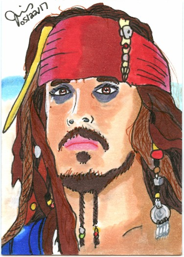 Captain Jack Sparrow Sketch Card