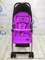 Kereta Dorong Bayi LightWeight BABYELLE S606RH Purple - Hadap Depan atau Belakang