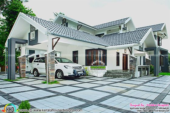 Fully furnished house exterior