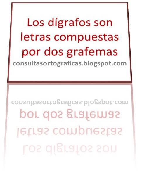Consultas Ortográficas Los Dígrafos