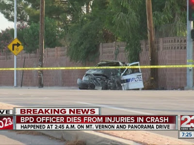 bakersfield officer david nelson killed patrol car crash panorama drive mt. vernon fatality