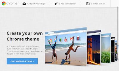 Cara mengganti tema background google Chrome