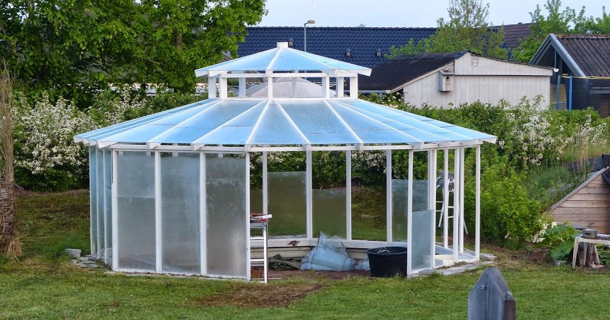 Mit 8 kantet drivhus: Opbygningen af drivhuset