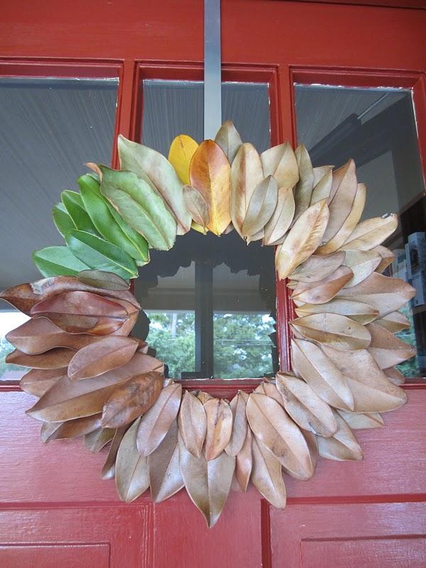 Magnolia Leaf Wreath: Copy-craft: Magnolia Leaf Wreath