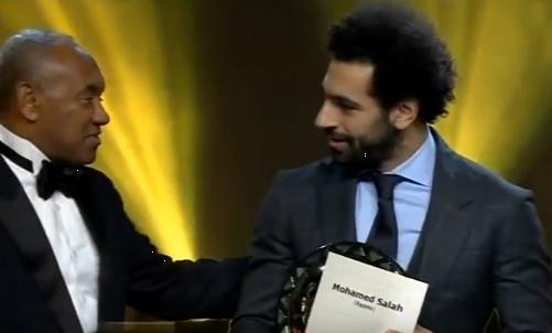 صلاح يحصد لقب أفضل لاعب إفريقى للعام الثانى على التوالى