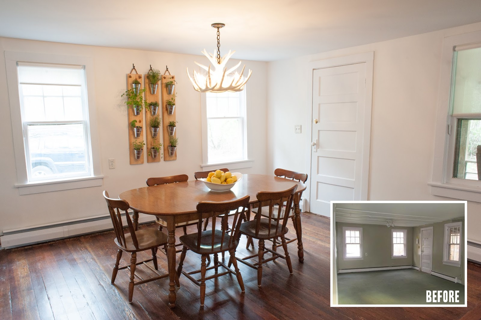 country cottage: simple rustic dining room | brooklyn limestone