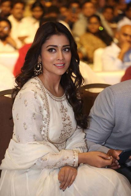 Shriya Saran Stills At Gayatri Movie Audio Launch