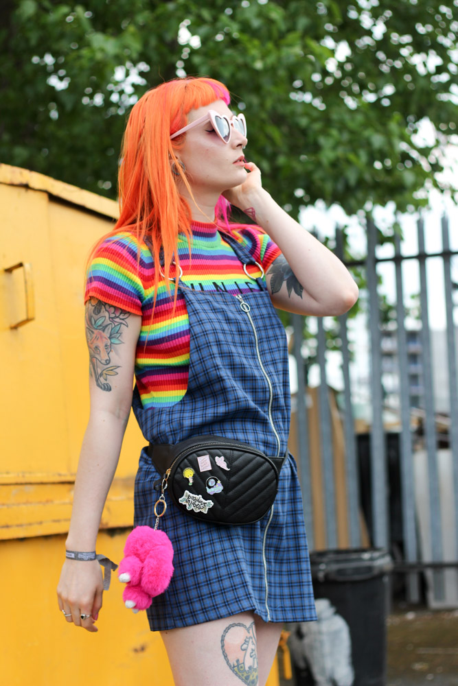 Alternative Fashion Blogger Foxxtailz styles the ragged priest pinafore dress for Attitude Clothing