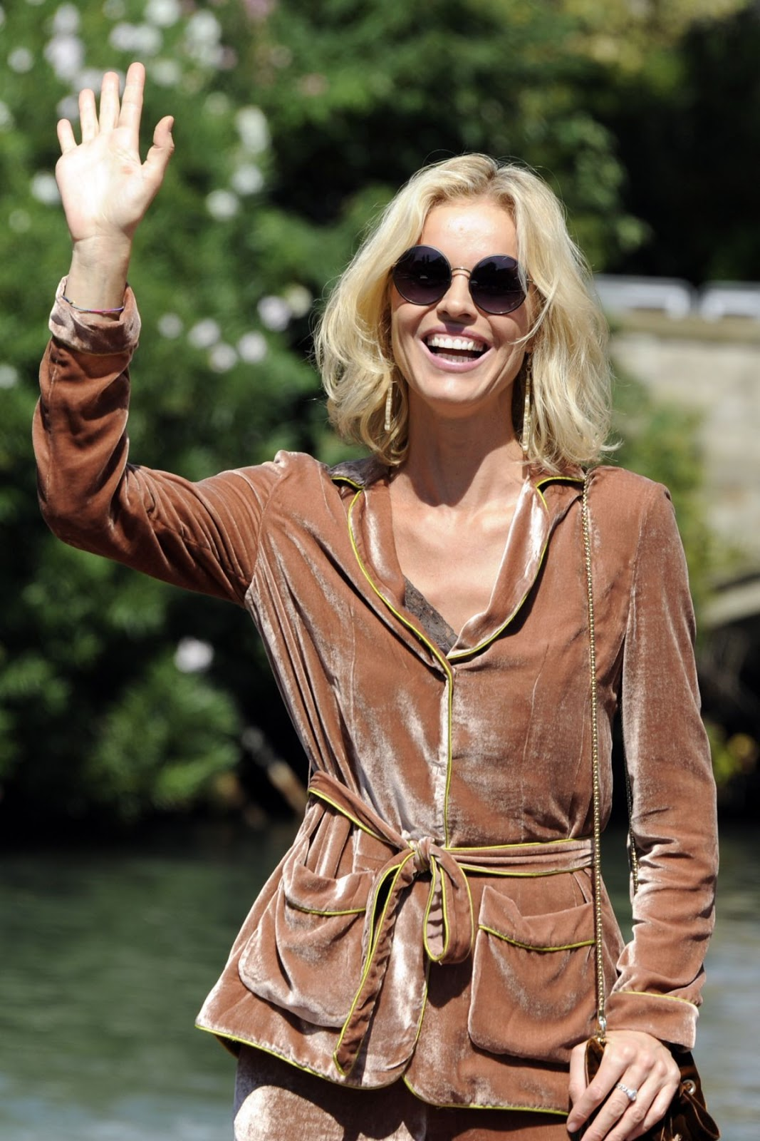 Eva Herzigova Arrives In Venice Film Festival
