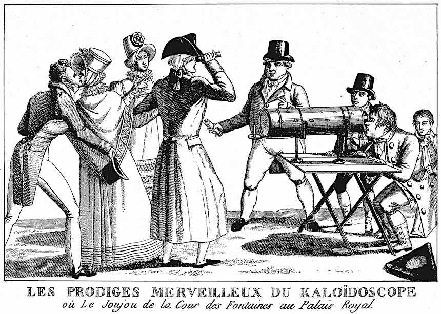 1830s kaleidoscope fad, illustration