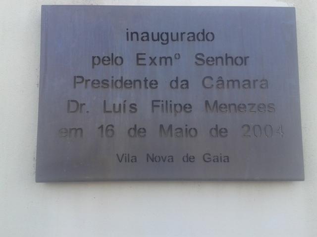 Placa de Inauguração