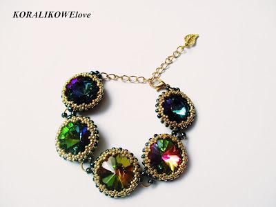 bransoletka z kryształkami,swarovski,koraliki