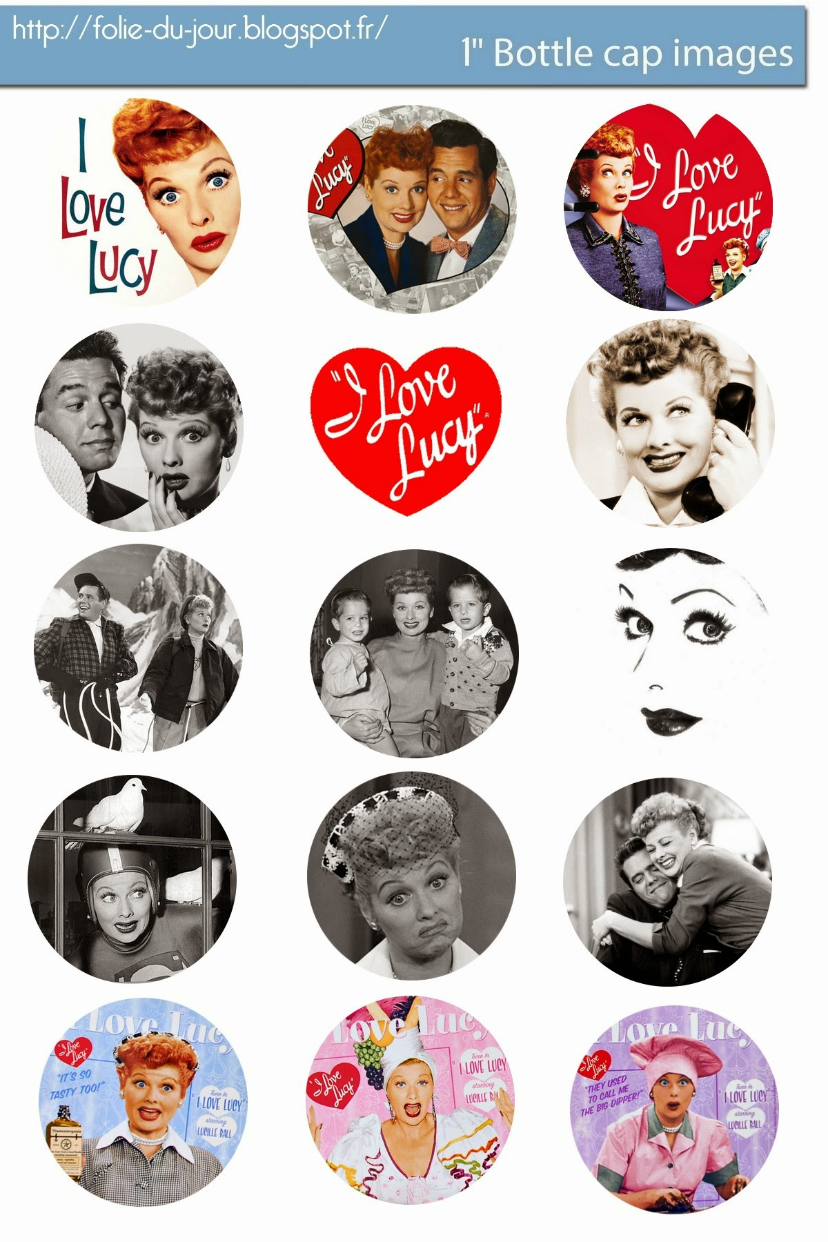 free bottle cap images i love lucy free bottle cap template