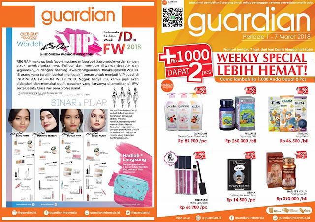 Katalog Promo GUARDIAN Weekly Specials Periode 01 - 07 Maret 2018