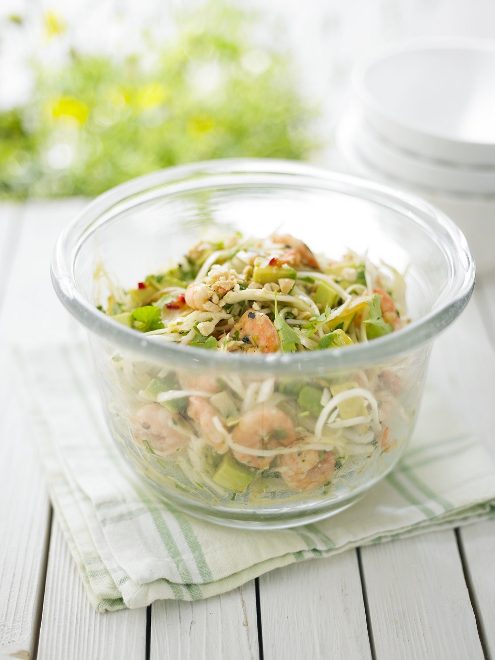 Avocado, Prawn and Cabbage Salad
