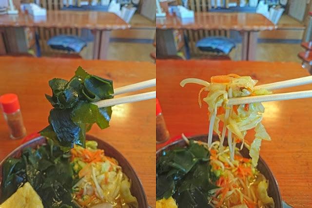 しっきり麺のトッピングの写真