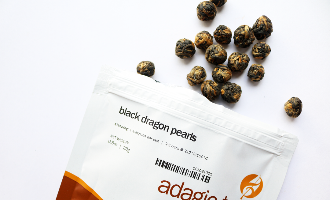 Adagio Teas Black Dragon Pearls