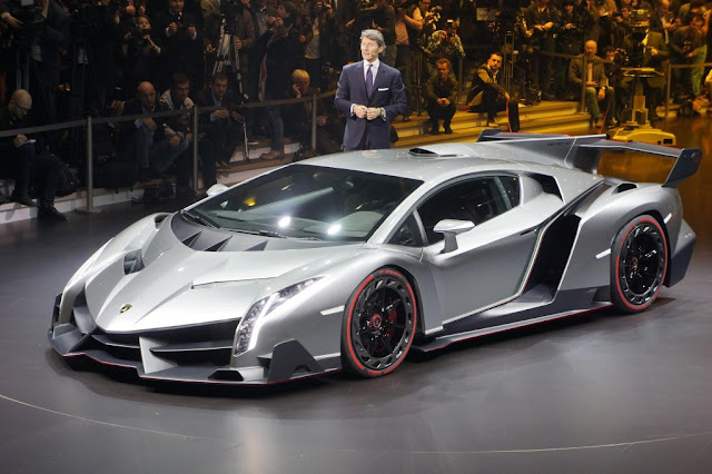 Lamborghini Veneno mobil dengan desain futuristik