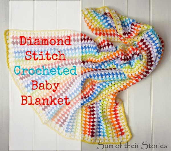 Rainbow Crocheted Baby Blanket