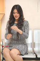 Actress Chandini Chowdary Pos in Short Dress at Howrah Bridge Movie Press Meet  0170.JPG