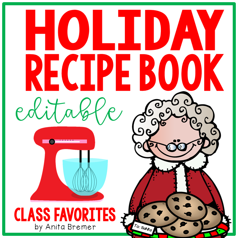 HOLIDAY RECIPE BOOK -EDITABLE