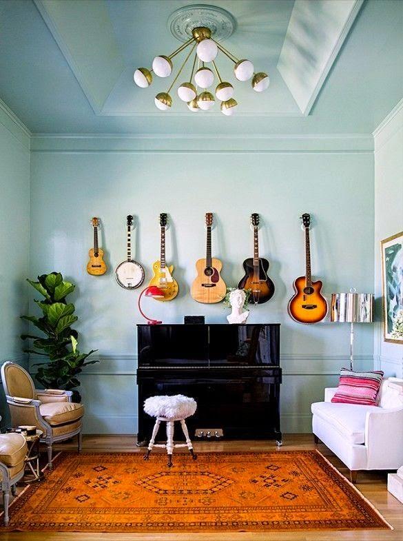 Decorar con instrumentos de música
