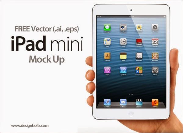 Apple iPad mini Tablet In Ai Format
