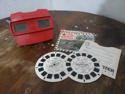 kaca mata 3D FILMnya di putar manual